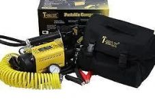 T MAX HEAVY DUTY 12V PORTABLE AIR COMPRESSOR CAR VAN TRUCK 4X4 TYRE PUMP